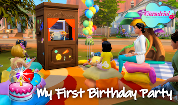 first birthday toddler sims 4