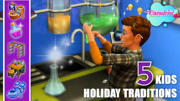 kids holiday traditions sims 4