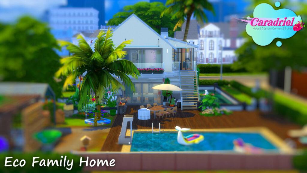 eco family home sims 4